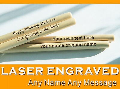Personalized Laser Engraved Pair of Drum Sticks High Quality 5A Maple Gifts