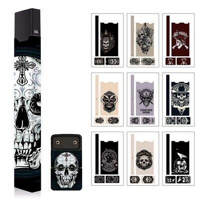 Skull 2.5D Stereo Film Sticker 3M Adhesive Printing Label For JUUL00