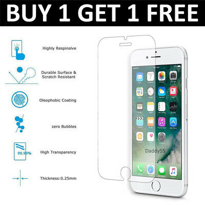For Apple  iPhone 6/6S Plus - 100% Genuine Tempered Glass Film Screen Protector