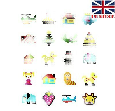 Aquabeads Template Sheets - 21pcs Double-side Printed Total 42 Lovely Characters
