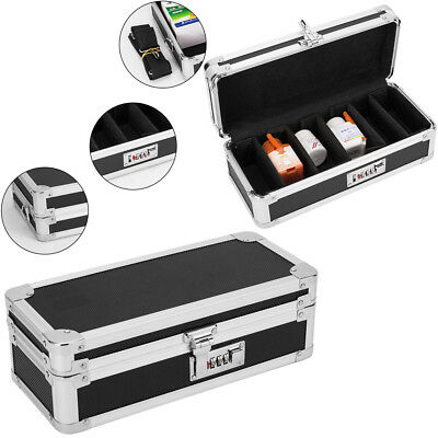 Combination Lock Box Medicine Case Secure Storage Independent Compartment Box