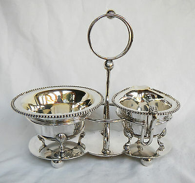 Antique J B Chatterley & Sons Silver Plate / Plated Cream & Sugar Caddy