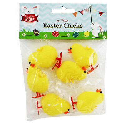 Yellow Easter Chicks - 6 Pack, Craft Supplies, Brand New