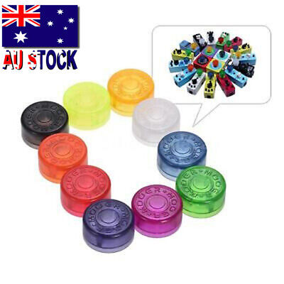 MOOER 10pcs Footswitch Topper Protector Colorful Plastic Bumpers for Guitar