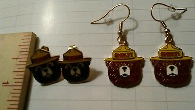 """SMOKEY'S  EAR RINGS""  PIERCED.""  1 PAIR CLOISONNE  EAR RINGS Pick short/ long."