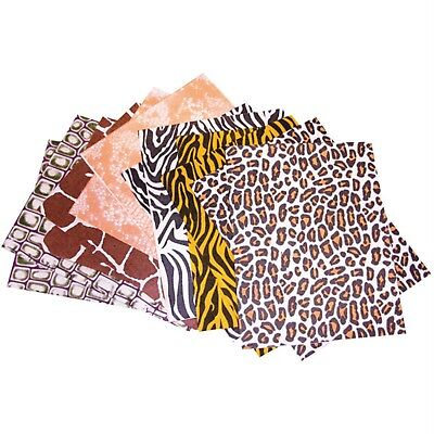 RVFM Animal Print Felt Fabric Sheets Pack of 18
