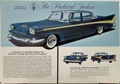 1958 Studebaker Packard Sedan Color Data Sheet Original