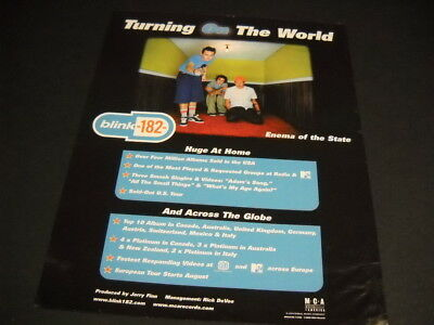 BLINK 182 is TURNING ON THE WORLD original 2000 PROMO POSTER AD