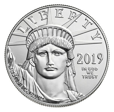 2019 1 oz Platinum American Eagle $100 GEM BU Coin SKU56507