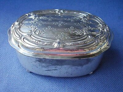 Derby Silver Plate Co. -Late Victorian Footed Hinged Casket/trinket Box - 87 1/2