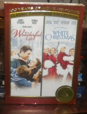 New Sealed Its a Wonderful Life & White Christmas (DVD, 2006, 2-Disc Set)e1 OOP