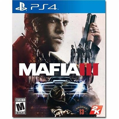 PS4 Mafia III 3 Mob Boss NEW Sealed Region Free Trusted USA seller