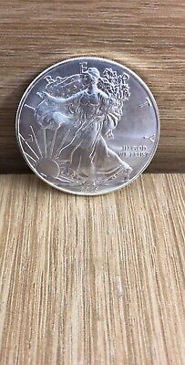2015 Silver Dollar Coin ~ 1 troy oz AMERICAN EAGLE Walking Liberty .999 Fine BU