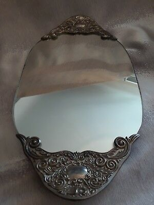 Godinger Silver Art Co Vintage Vanity Mirrored Tray Oval