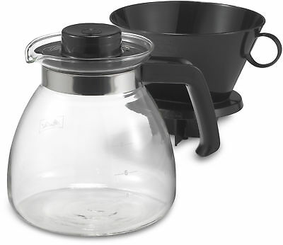 Melitta Pour Over 10-Cup Coffee Maker with Glass Carafe