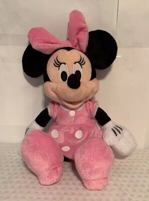 Disney Minnie Mouse Plush Doll 11 Inches Pink Dress