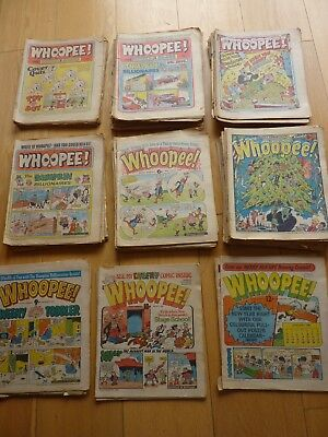 Large Collection Of 90 Early Whoopee Comics  Mostly 1974 1975 1976