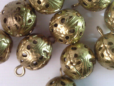 3027 Antiqued Brass Plate TierraCast Ethnic Long Beads 6 Pieces Metal Bead