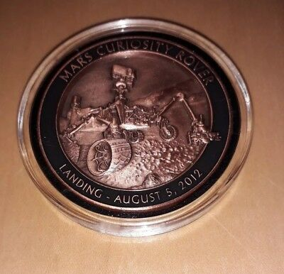 NASA MARS CURIOSITY ROVER LANDING August 5th 2012 EXPEDITION Commemorative Coin