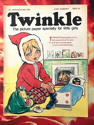 Twinkle  Comic No 153. 26 Dec 1970 Christmas Issue. Dress Twinkle Page. Good