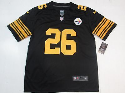 6e38c3e83 LE VEON BELL  26 Pittsburgh Steelers All Sewn Color Rush Mens Jersey ...