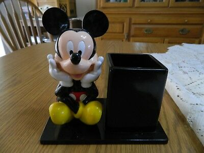 Vintage Disney Mickey Mouse Pencil Holder - VGUC
