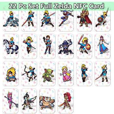22 PCS NFC AMIBO CARD Tag ZELDA BREATH OF THE WILD WOLF LINK For Switch Wii U