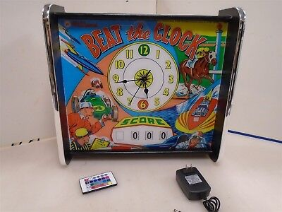 Williams Beat The Clock Pinball Head LED Display light box with working clock