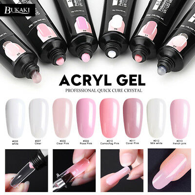 BUKAKI Poly Gel Polish French Art Tips Polish for Nail Quick Builder Extension
