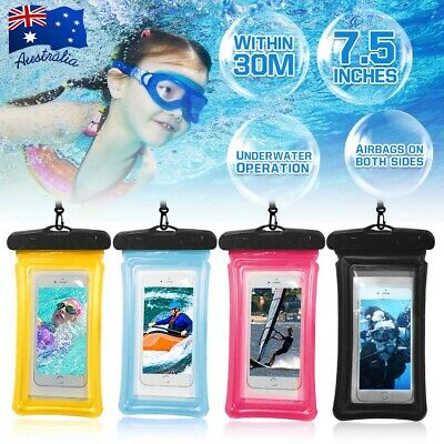 """7.5"""" Waterproof Floatable Phone Case Pouch Dry Bag for Samsung Galaxy S9+ S8 S7"""