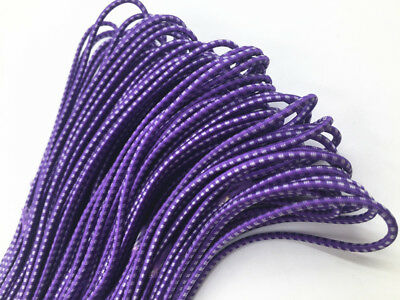 3mm Round Elastic Stretch Cord Waist Band for Sewing Band Purple Crafts 20-40m
