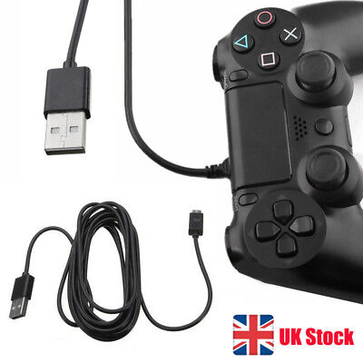 Black 3M Play&Charge Cable for PS4 Controller GamePad Pad Charging Charger Lead