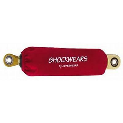 """10 """" Shockwears Racing Small Body Coilover Shock Protectors, Red"""