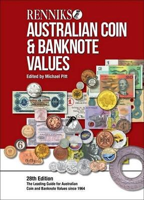 2018 Renniks 28th Hard Cover Coin Banknote Catalogue Sent Free Registered Post