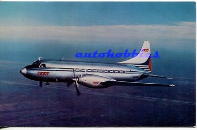 2 Trans Texas Airways Postcards TTA Convair Silver Cloud 600 Unposted