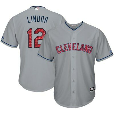 Cleveland Indians Lindor MLB Majestätisch Stars&stripes Cool Base Mode Trikot