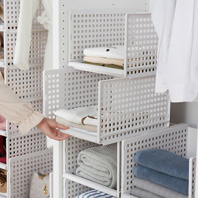 Tidy Living Small Stackable Wire Basket Silver Kitchen Bathroom