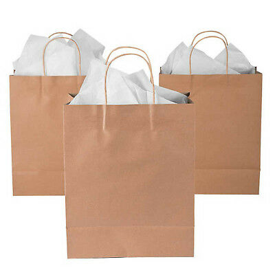Brown Kraft Paper Gift Carry Shopping Bags Eco Recyclable Retail Gift Bags