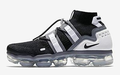 Nike Air Vapormax Flyknit Utility Black Cool Grey White Ah6834 003 Us Mens Sz 7