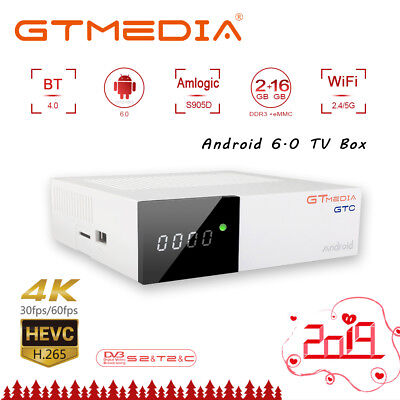 gtmedia GTC Android 6.0 4K TV BOX DVB-S2/T2/Cable/ISDBT 2GB 16GB Wifi 2.4G+BT4.0