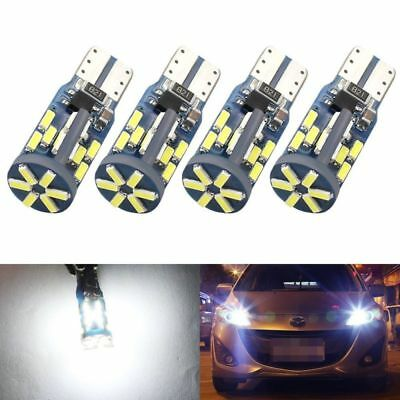 4Pcs CANBUS ERROR FREE 30SMD LED T10 4014 192 168 W5W Car Side Wedge Light Bulb
