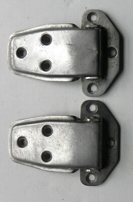 Antique General Store 2 Cooler Icebox Door Hinges Nickel Plated Brass 4 avail.