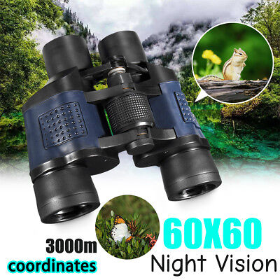 HD 60x Day Night Vision Zoom Military Army Binoculars Telescope Camping Hiking