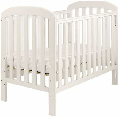 East Coast ANNA DROPSIDE COT - PURE WHITE Baby Child Nursery Furniture BN