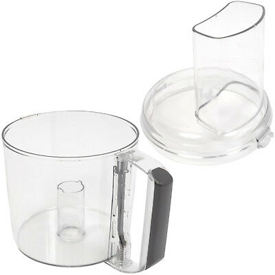 MAGIMIX Food Processor Mixing Bowl + Lid Chute Mixer 1.7L Le Mini Plus Black