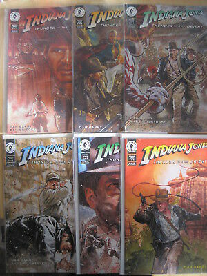 INDIANA JONES, THUNDER in the ORIENT : COMPLETE 6 ISSUE 1993 Dark Horse SERIES