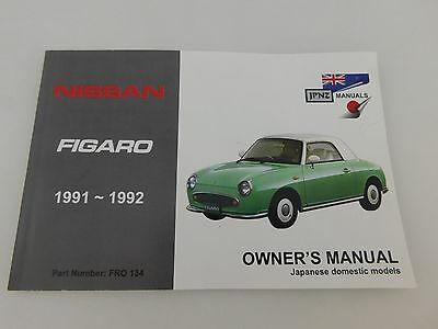 Compatible With Nissan Figaro Owners Manual / Hand Book & Service Record Booklet