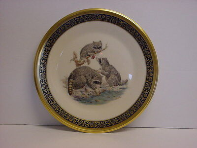 Lenox Boehm Raccoons Collector Plate NIB Dated 1973 Woodland Wildlife Series