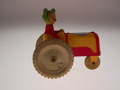 """GSCOM """"MICKEY MOUSE ON TRACTOR""""  VICEROY TOYS CANADA,1940s, SEHR GUT/VERY GOOD!"""