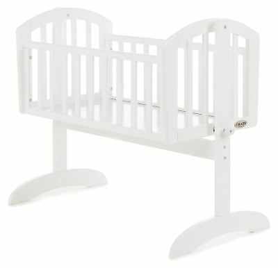 Obaby SOPHIE SWINGING CRIB Baby Child Nursery Furniture White BN